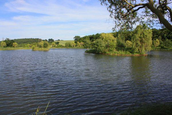 Jezero nyní...