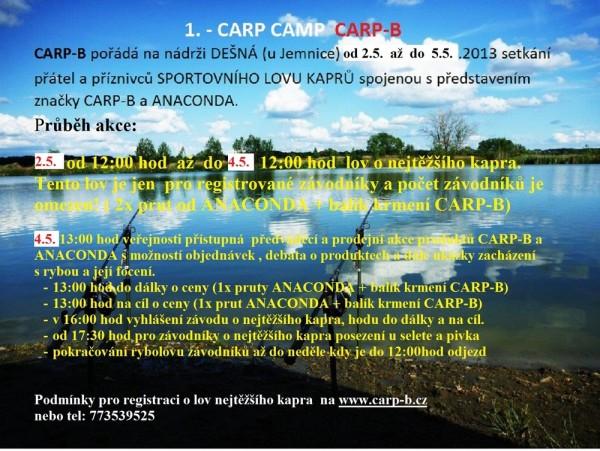 Oficiální pozvánka na 1. Carp Camp CARP-B