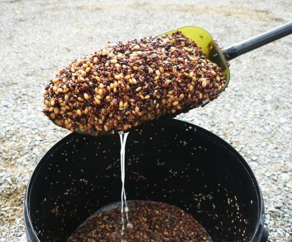 Konopí, řepka, pšenice a len jsou po fermentaci připravené k zákrmu