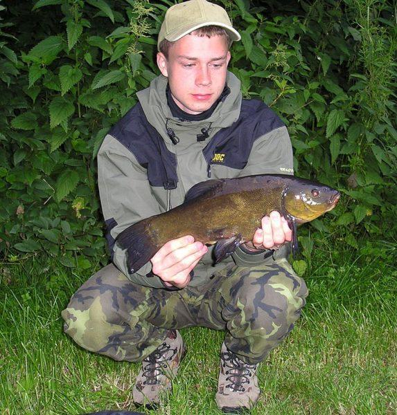 První vybojovaná ryba – lín 41cm