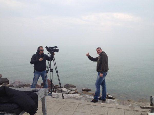 Natáčení pro Fishing and Hunting na Balatonu