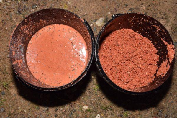 Kapří polévka a method mix s kaprovou směsí. Tato kombinace na dně vytvoří opravdové peklo (method mix Secret Spice, kaprová směs Orange – Secret Spice, ořech).