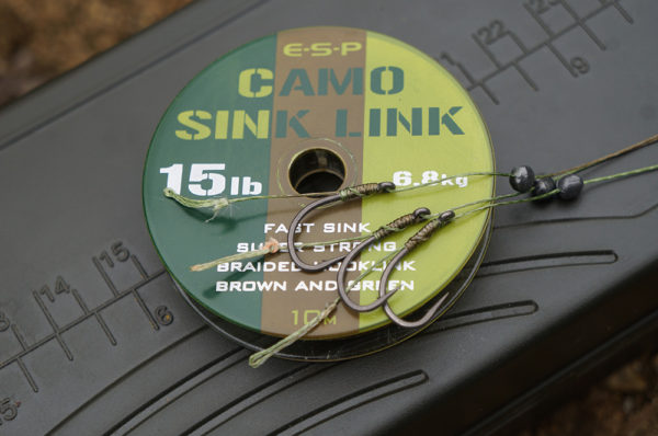 Nachystané návazce z měkké šňůrky Camo sink link