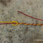 3. Kmenový vlasec omotáme 6-7x kolem šokovky jedním směrem