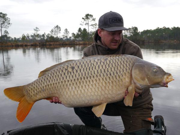 Andreas se svým šupináčem 23,5 kg z minulého roku