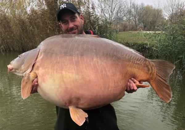 Nový světový rekord kapra o váze 51,20 kg