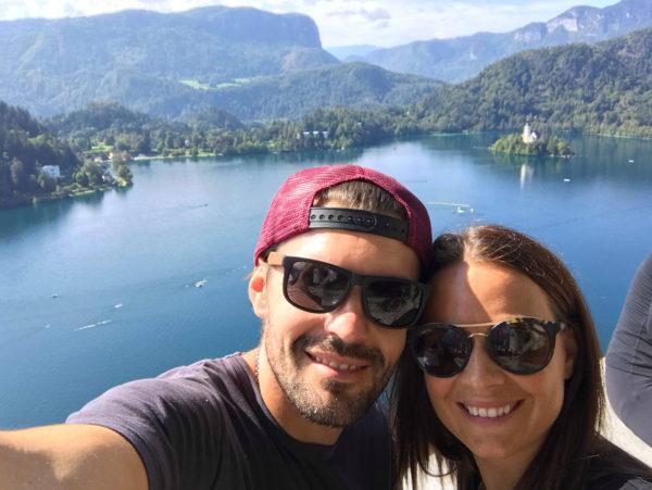 Selfie z hradu Bled