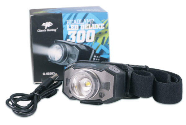 Giants fishing Nabíjecí Čelovka Headlamp LED Deluxe 300 - NOVINKA!